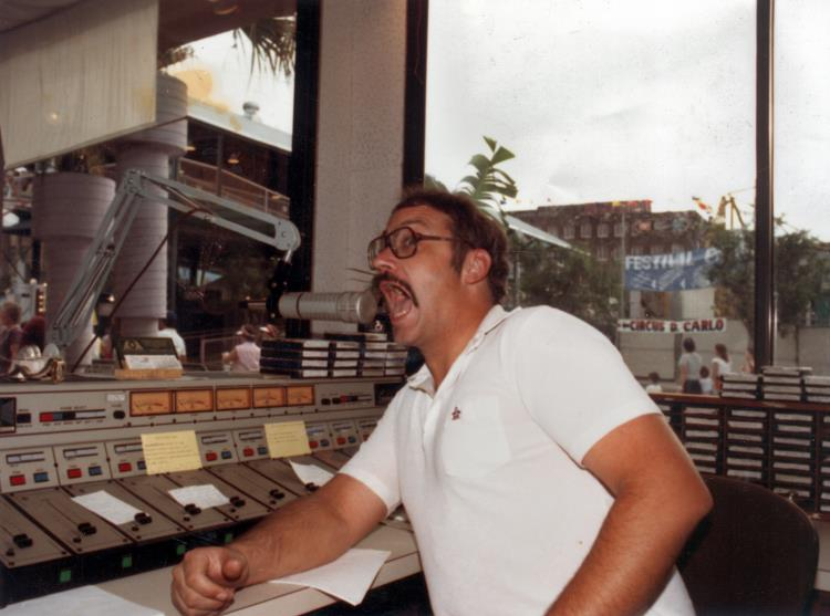 JD in the WRNO Wonderwall studio at the 1984 World's Fair