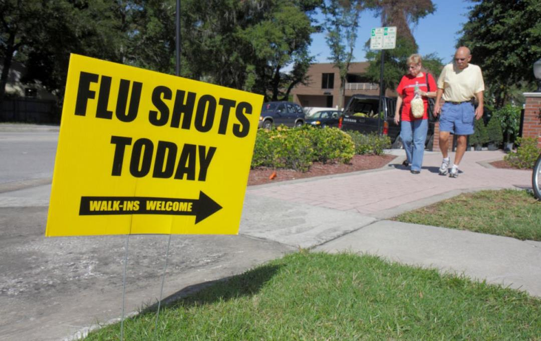Flu Shots Today sign