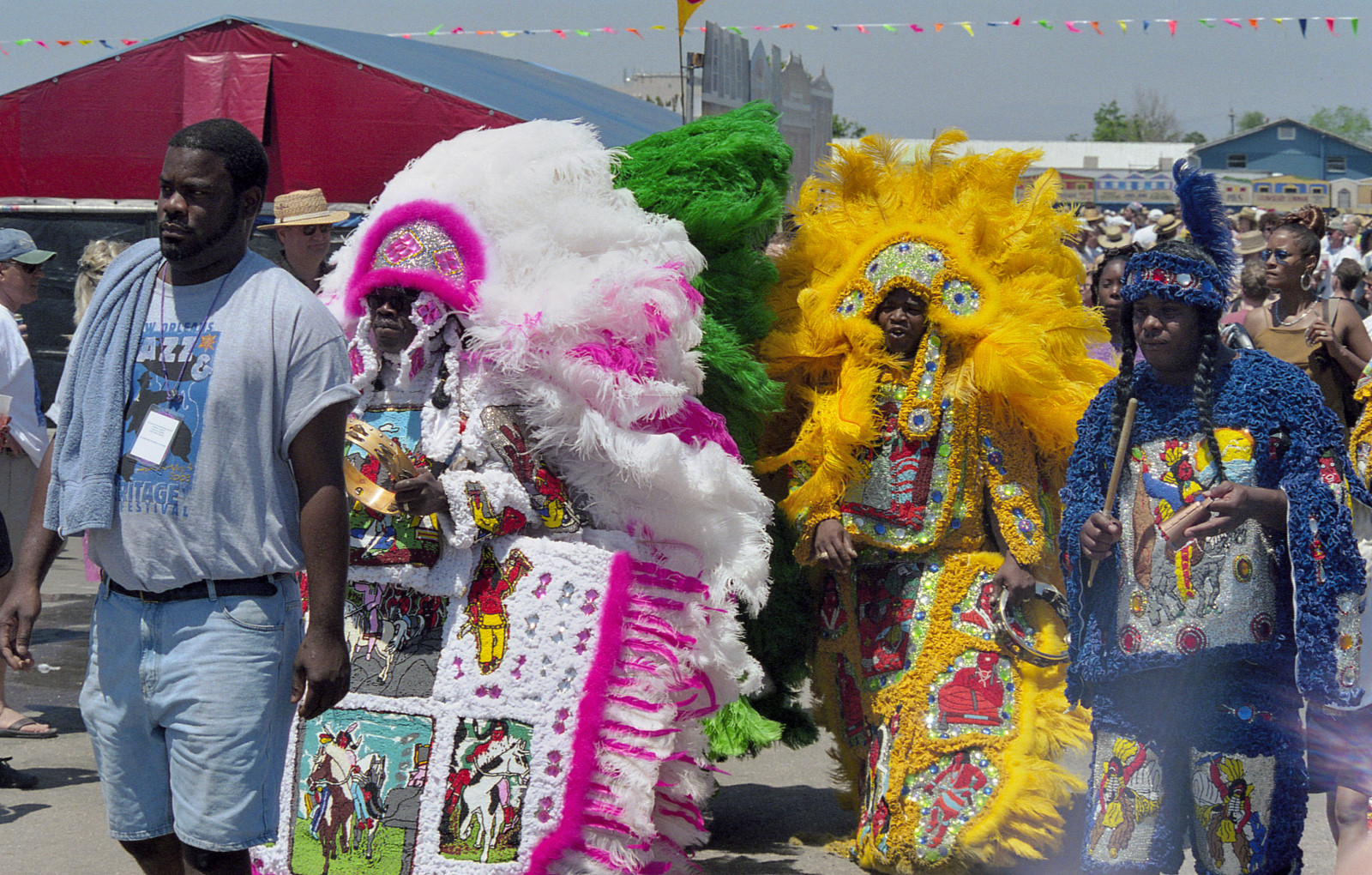 Mardi Gras Indians at Jazz Fest 2003