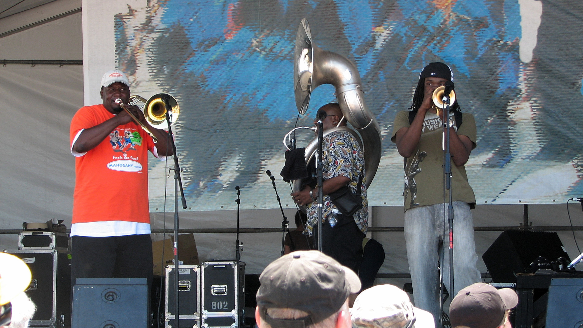 Mahogany Brass Band at Jazz Fest 2007