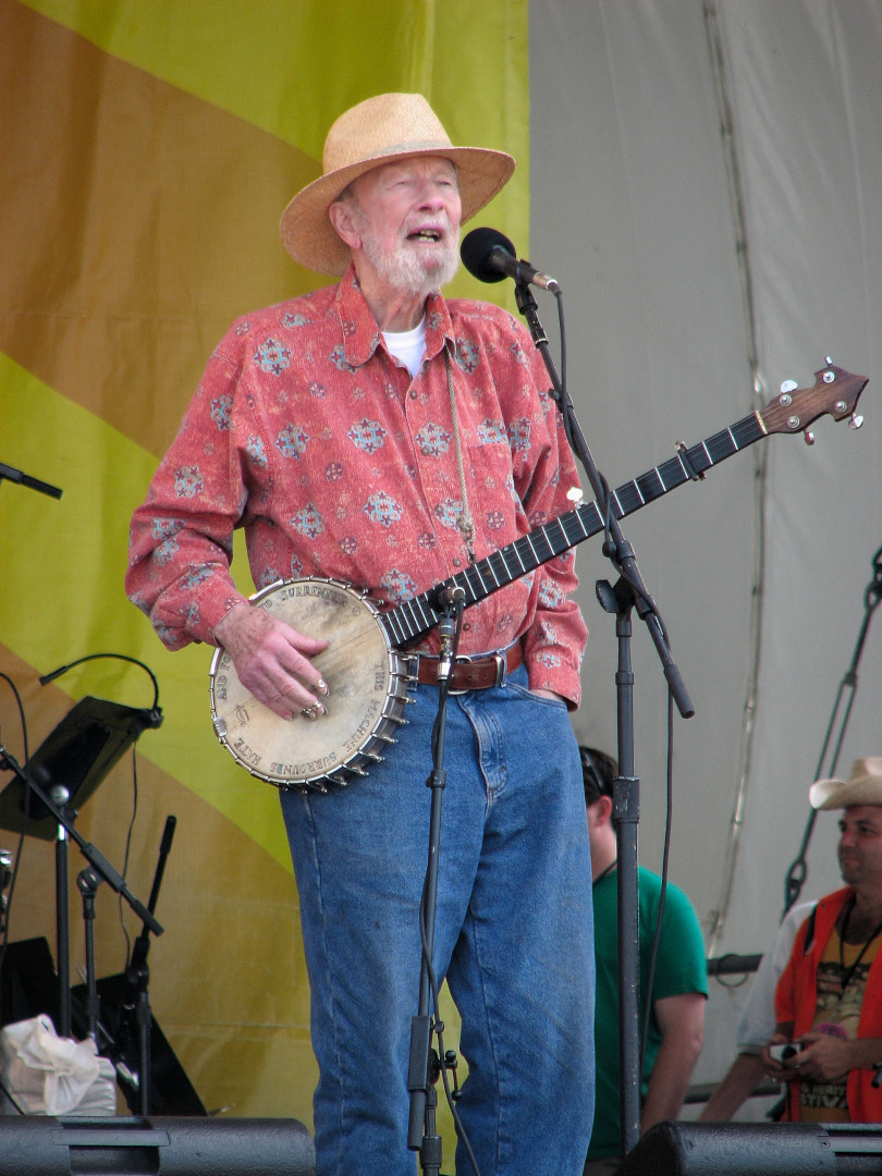 Tao and Pete Seeger at Jazz Fest 2009