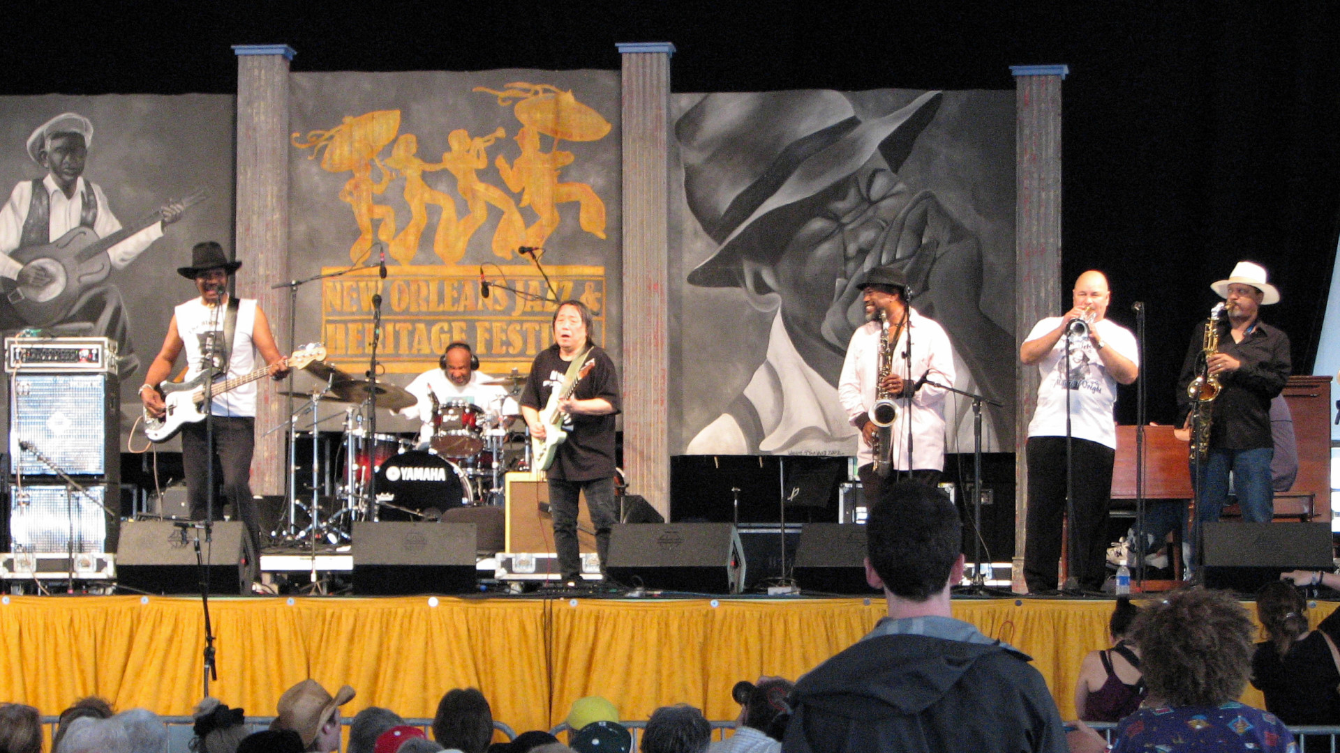 Marva Wright Tribute musicians at Jazz Fest 2010