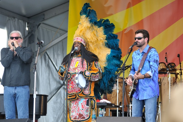 """Jumpin'"" Johnny Sansone, ""Big Chief"" Monk Boudreaux, and Tab Benoit with the Voice of the Wetlands All Stars"