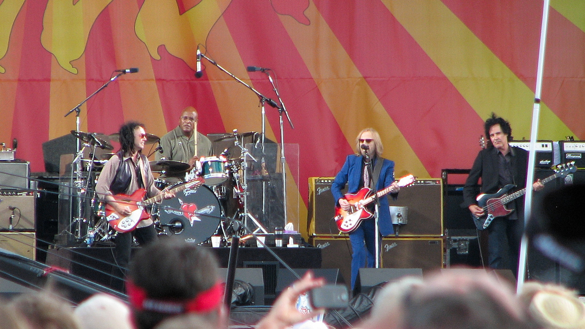 Mike Campbell, Steve Ferrone, Tom Petty, and Ron Blair