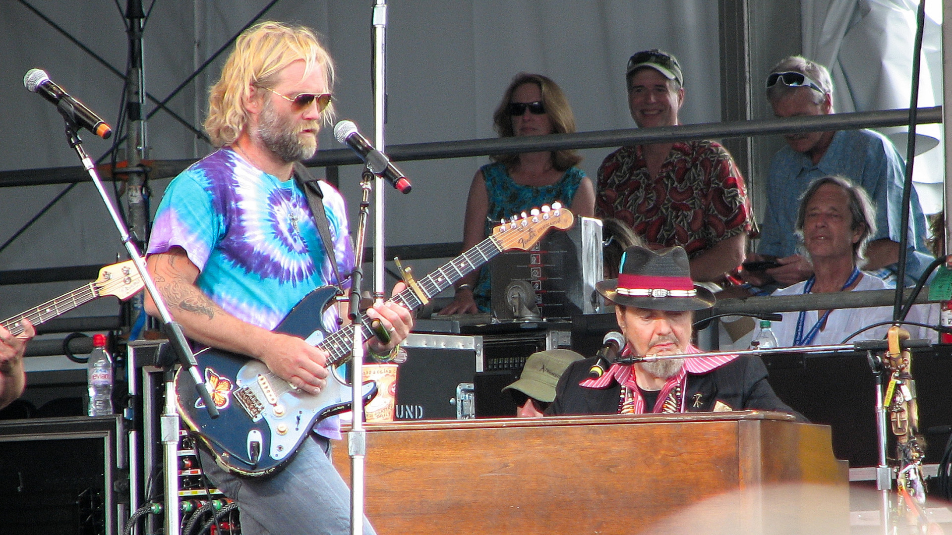 Anders Osborne on guitar and Dr. John on keyboards