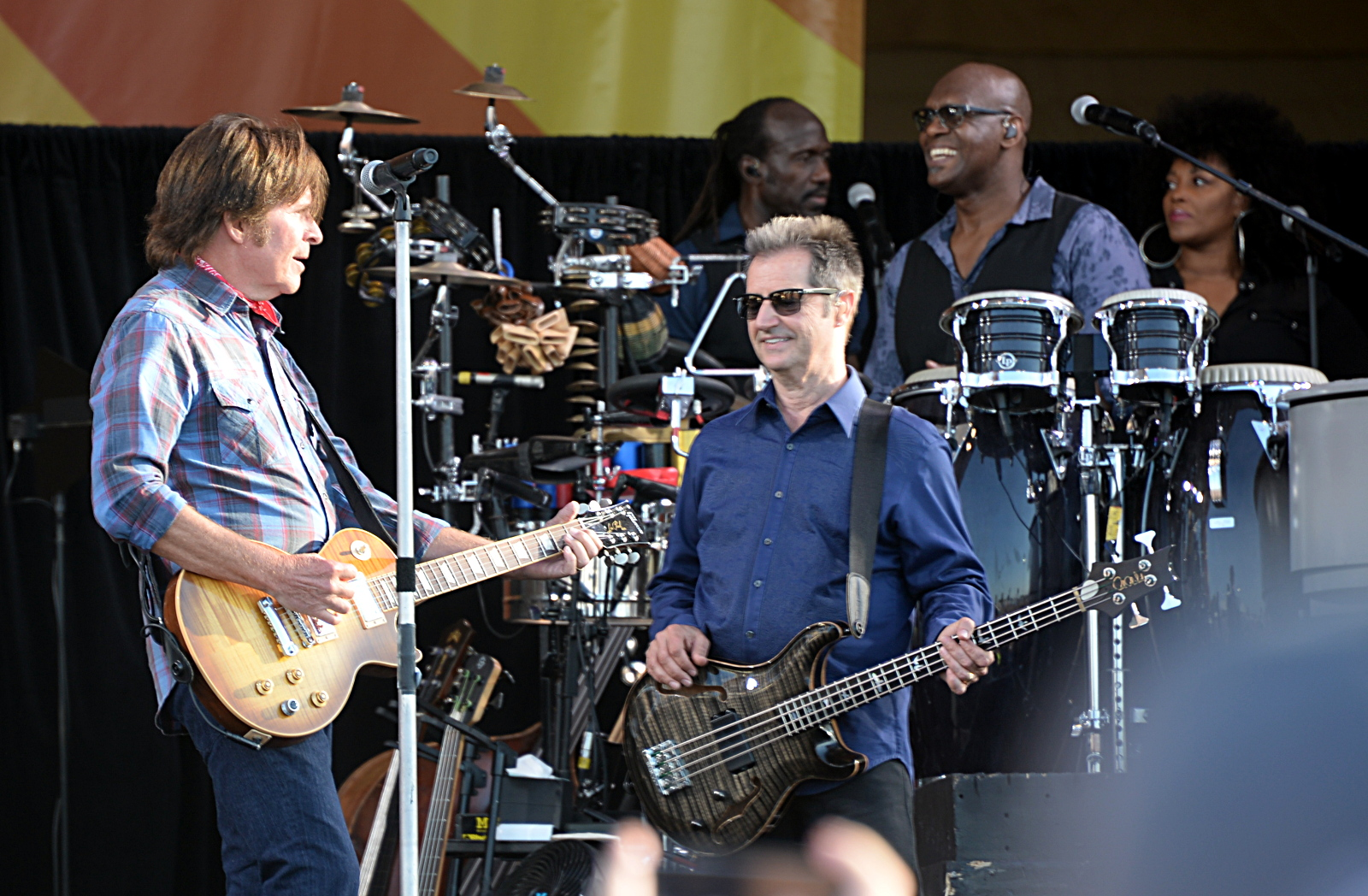 John Fogarty with Garry Tallent and the E Street Band