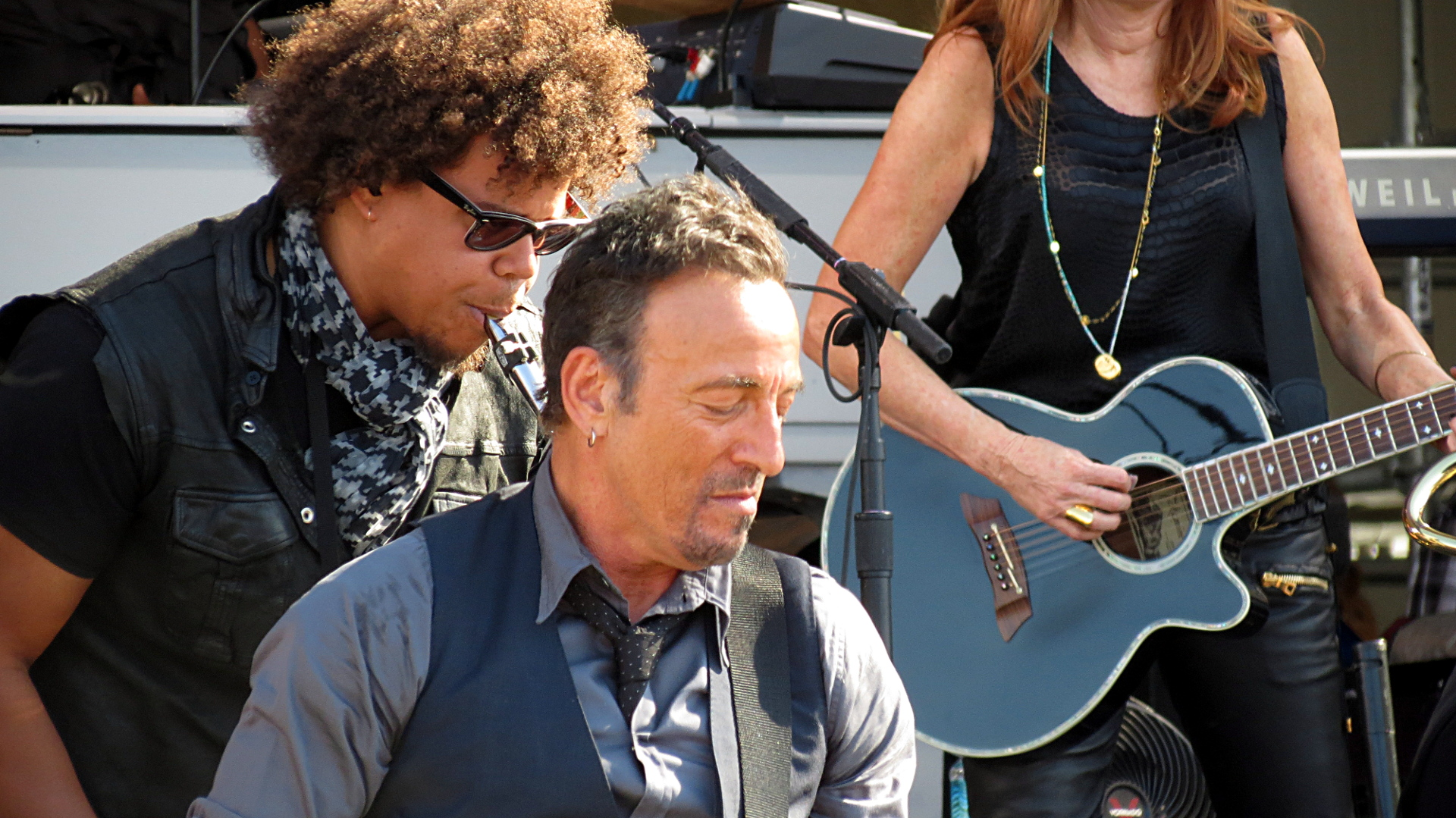 Jake Clemons with Bruce Springsteen