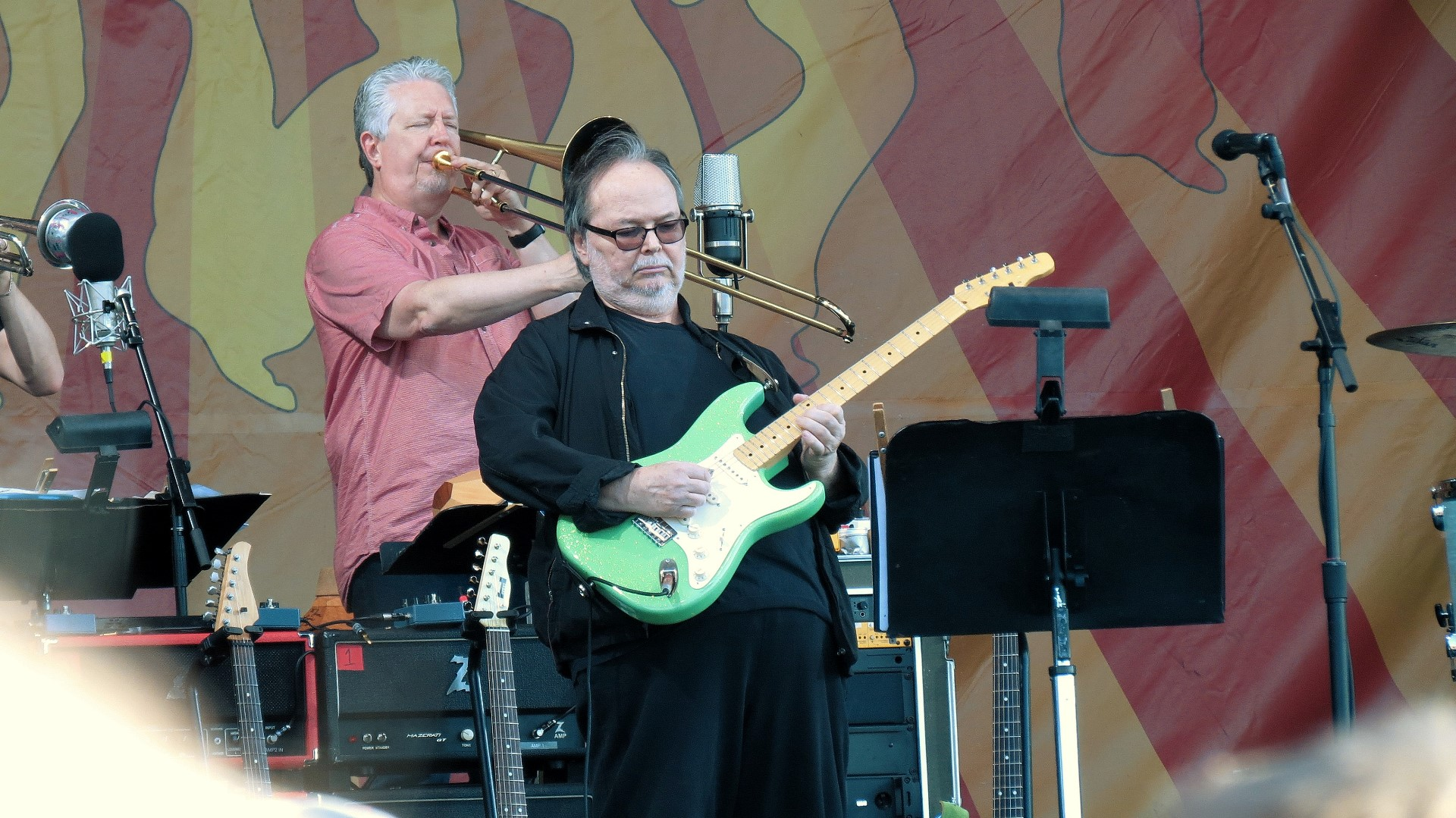 Walter Becker of Steely Dan at Jazz Fest 2016