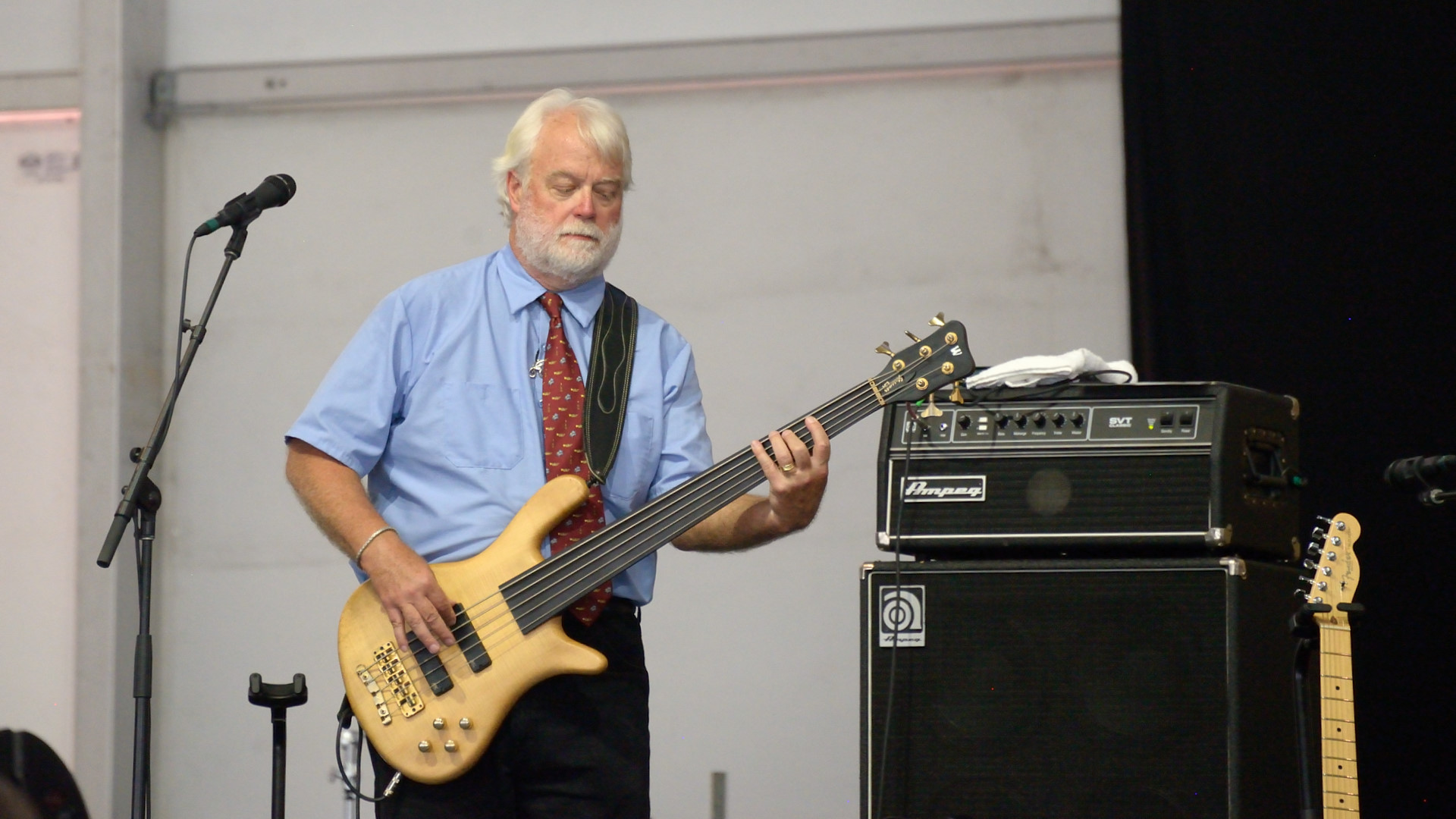 Six String Therapy's 5-string bassist