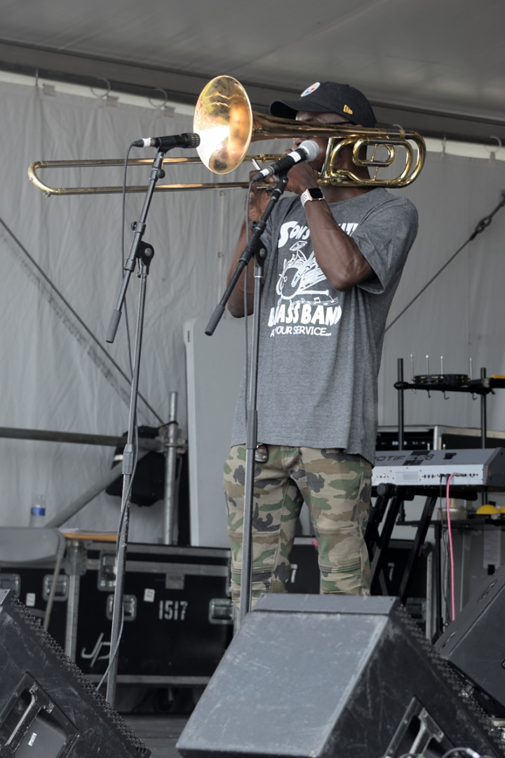 Sons of Jazz Brass Band trombonist