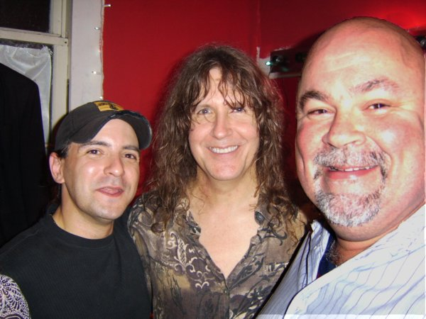 Weerd Wayne, Guy Gelso of Zebra, and Dave (stepson of Weerd Wayne)